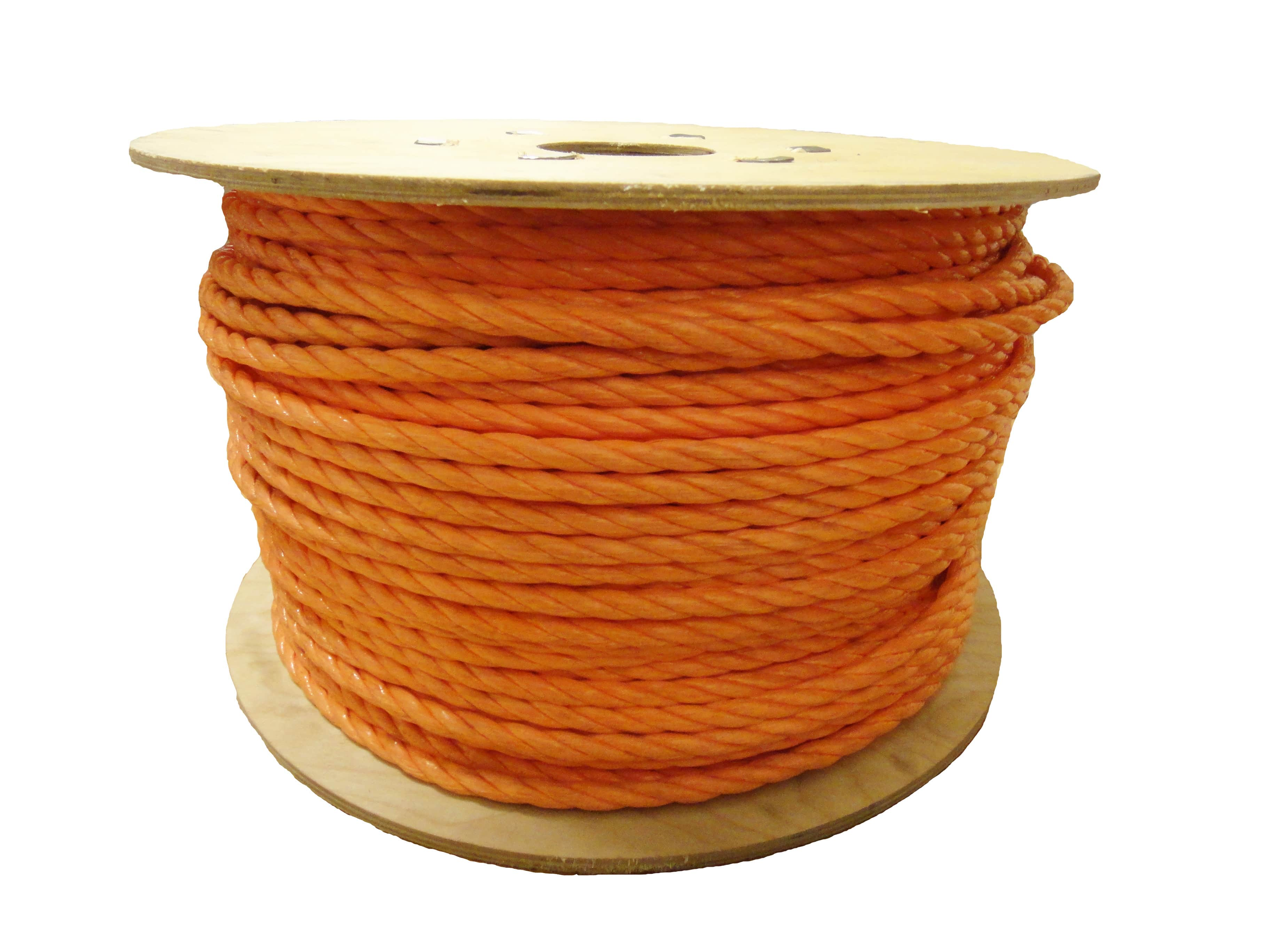 10mm Orange Polypropylene Rope x 200m On Wooden Drum